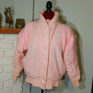 Clipper Bay Ski Jacket Pink 1980s